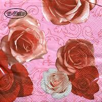3325 - Roses on Pink background