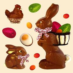 2653 - Choclate Easter hare