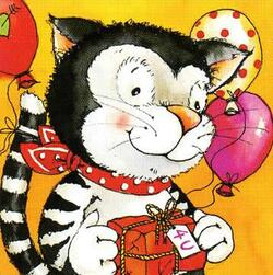 2620 - Funny cat and balloons
