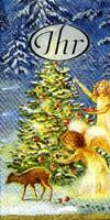 2559 - X-mas tree, Angels a.s.o. - Handkerchief