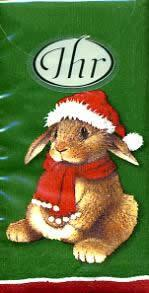 2547 - Different animals in Christmas clothes - Handkerchief