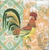 4236 - Rooster and patterns
