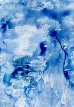 Blue - A4 - 5 sheets - Encaustic
