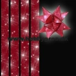 Star strips - 15mm - 64 pcs - with motive red star sky