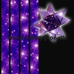 Star strips - 15mm - 64 pcs - with motive lilac star sky