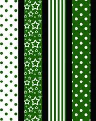 Star strips - 10mm - 64 pcs - Green