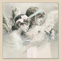 4674 - Angels Girls - Vintage Napkin.