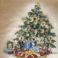 5061 - Christmas tree with lights and presents