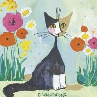 5321 - Artistic cat and flowers