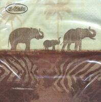 5325 - Elephants in Morning Mist