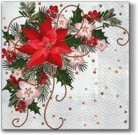 5354 - Outdoor Christmas decoration with poinsettia