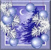 4028 - Christmas finery - Blue