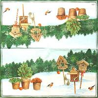 4012 - Bird houses in the snow