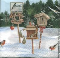 4011 - Bird houses and pots in the snow