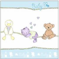3978 - Babys things - Blue