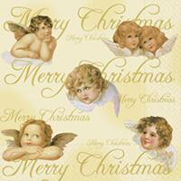 3914 - Angels and Merry Christmas text