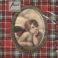 3912 - Angel and tartan – red