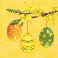 3823 - Easter eggs on Forsythia branch