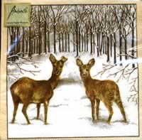 3797 -Deer in winter forest