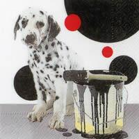 3414 - Dog and bucket – dots