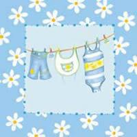 3085 - Baby clothes on the line