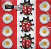 2207 - Ladybugs and daisies