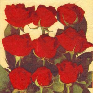 1329 - Red Roses - bouquet