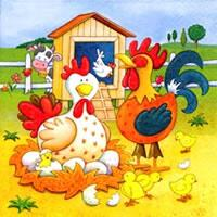 4407 - Festive chicken farm