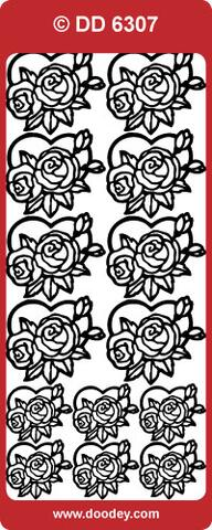 DD 6307 Roses in hearts