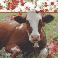 4420 - Cow and flowers