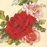 4626 - Rose wreath - Coffee napkin - Large motive