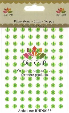 Rhinestones - 6 mm - Lime Green - stickers