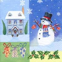 4104 - Snowman, house, gifts and Christian hawthorn