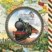 5366- Old locomotive and map