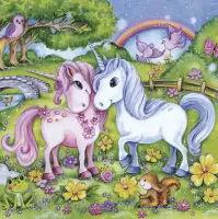 5493 - Lovely Unicorns in Garden