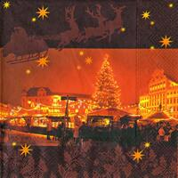 3910 - Christmas town in the night