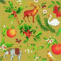 3904 - Christmas finery - Gold background