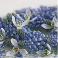 3874 - Blue and White flowers