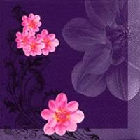 3820 - Oriental Flower pink/Purple