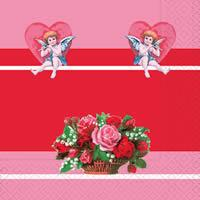 3183 - Angels and basket of roses