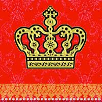 3080 – Kings crown – Red