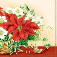 3059 - Christmas basket with poinsettia