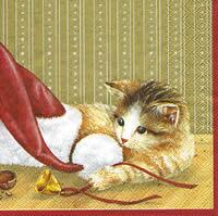 2949 - The cat and mouseen celebrating X-mas - Gold