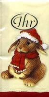 2548 - Different animals in Christmas clothes - Handkerchief