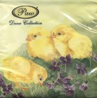 4190 - Chickens and purple flowers