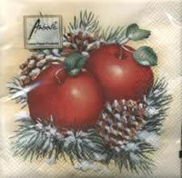 4505 - Winter apples and pine cones - Coffee napkin