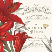 4153 - wine label and amaryllis