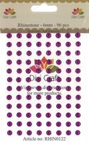 Rhinestones - 6 mm - Pulple - stickers