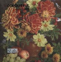 5023 - Still life with dahlias