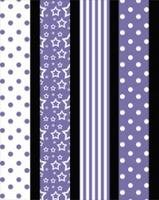 Star strips - 10mm - 64 pcs - Lavender